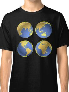 three-dimensional model of the planet earth Classic T-Shirt