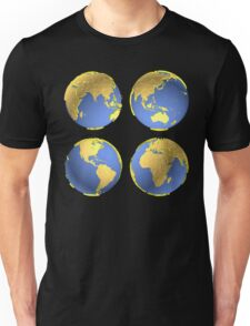 three-dimensional model of the planet earth Unisex T-Shirt