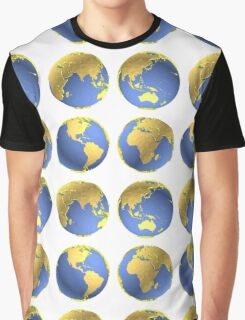three-dimensional model of the planet earth Graphic T-Shirt