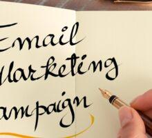 Handwritten text Email Marketing Campaign Sticker