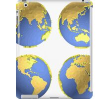 three-dimensional model of the planet earth iPad Case/Skin