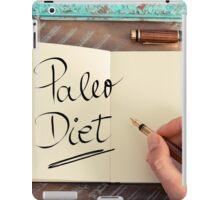 Handwritten text Paleo Diet iPad Case/Skin