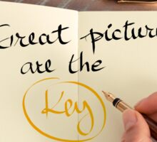 Great Pictures Are The Key Sticker