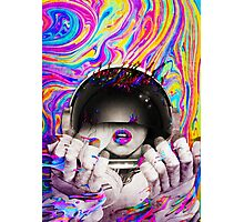 Psychedelic Astronaut (Vintage Effect) Photographic Print