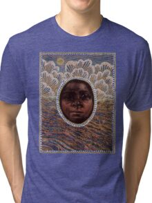 'Icon to a Stolen Child: Wave' by Julie Dowling Tri-blend T-Shirt