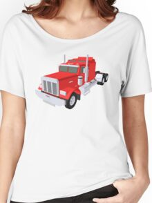 red truck Women's Relaxed Fit T-Shirt