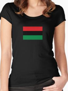 Pan African Flag T-Shirt - UNIA Flag Sticker - Afro American Flag Women's Fitted Scoop T-Shirt