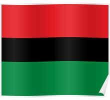 Pan African Flag T-Shirt - UNIA Flag Sticker - Afro American Flag Poster