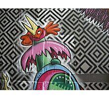 graffiti robot chicken Photographic Print