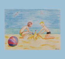 Children on the beach Baby Tee