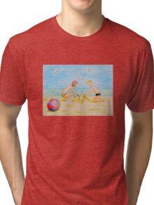 Children on the beach Tri-blend T-Shirt