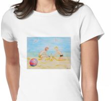 Children on the beach Womens Fitted T-Shirt