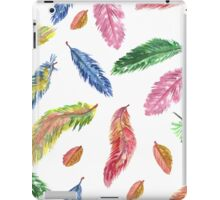 Hand drawn watercolor feathers. Seamless pattern.  iPad Case/Skin