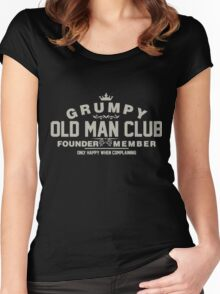 Grumpy Old Man Club Women's Fitted Scoop T-Shirt