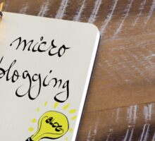MICRO BLOGGING Sticker