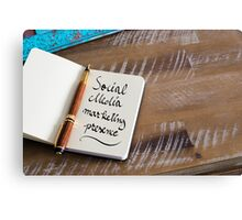 SOCIAL MEDIA MARKETING PRESENCE Canvas Print