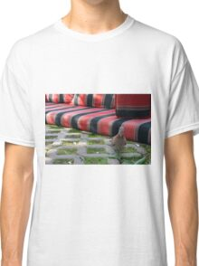 Pigeon next to mattress in the park. Classic T-Shirt