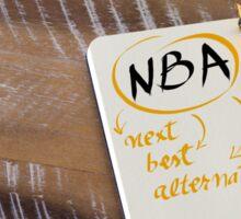 NBA as NEXT BEST ALTERNATIVE Sticker