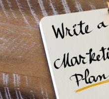 WRITE A MARKETING PLAN Sticker