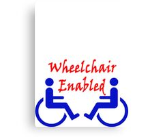 Wheelchair Enabled Canvas Print