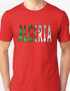 Algeria Word With Flag Texture T-Shirt