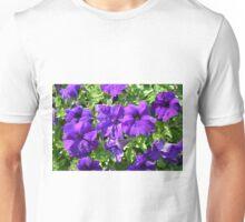 Purple flowers pattern. Unisex T-Shirt