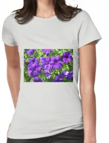 Purple flowers pattern. Womens Fitted T-Shirt