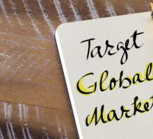 Written text TARGET GLOBAL MARKETS Sticker