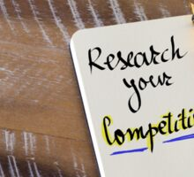 Written text RESEARCH YOUR COMPETITION Sticker