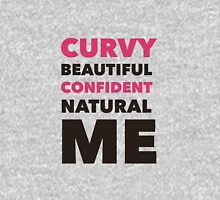 Curvy Beautiful Confident Natural Me  Women's Fitted Scoop T-Shirt