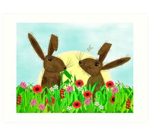 March Hare Spring Time Fun Art Print