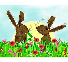 March Hare Spring Time Fun Photographic Print
