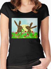March Hare Spring Time Fun Women's Fitted Scoop T-Shirt