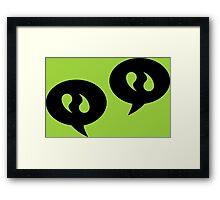 Communication Icons Framed Print