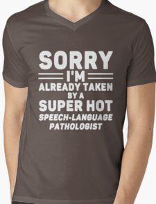 I'm Taken By Speech - Language Pathologist Mens V-Neck T-Shirt