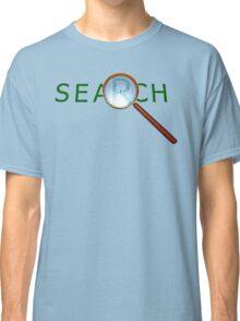 magnifying glass in a gold frame with a wooden handle Classic T-Shirt