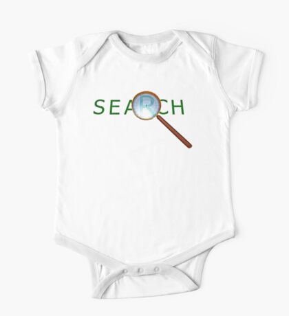 magnifying glass in a gold frame with a wooden handle One Piece - Short Sleeve