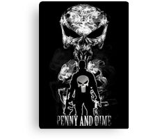 Penny and Dime. Canvas Print