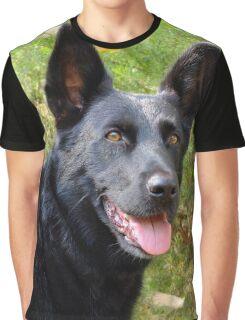 Black German Shepherd Graphic T-Shirt