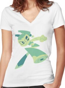 Jenny - My Life As A Teenage Robot Women's Fitted V-Neck T-Shirt