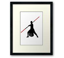 Star Wars - Rey red lightsaber (black) Framed Print