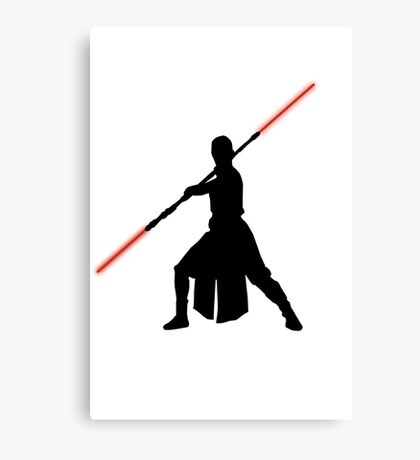Star Wars - Rey red lightsaber (black) Canvas Print