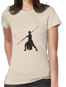 Star Wars - Rey red lightsaber (black) Womens Fitted T-Shirt
