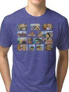 log house Russia Tri-blend T-Shirt