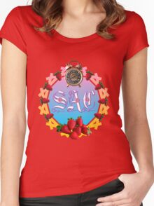 Sixties Daze Strawberry Fan Women's Fitted Scoop T-Shirt