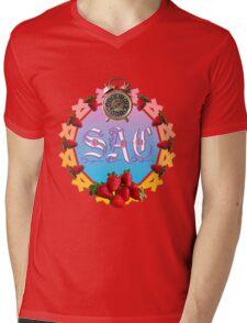 Sixties Daze Strawberry Fan Mens V-Neck T-Shirt