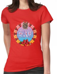 Sixties Daze Strawberry Fan Womens Fitted T-Shirt