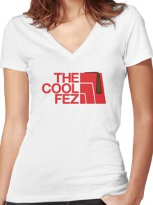 The Cool Fez Women's Fitted V-Neck T-Shirt