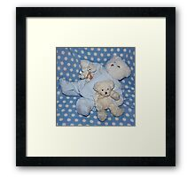 Teddies Ready for Bed Framed Print