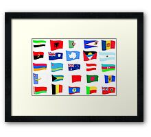 flags of the countries and states Framed Print